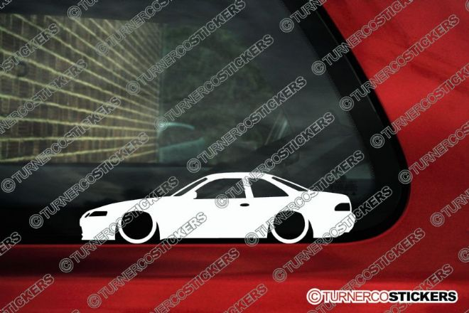 2x Low car outline stickers Toyota Soarer GT Coupe ( Z30 1991-2000 ) JDM